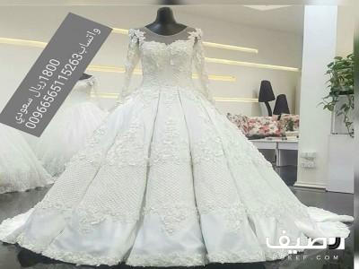 350127343 متجر توفا لتفصيل أجمل فساتين الزفاف والسهرة بسعر مناسب وخامات راقية من  لديها موديل سواء زفاف